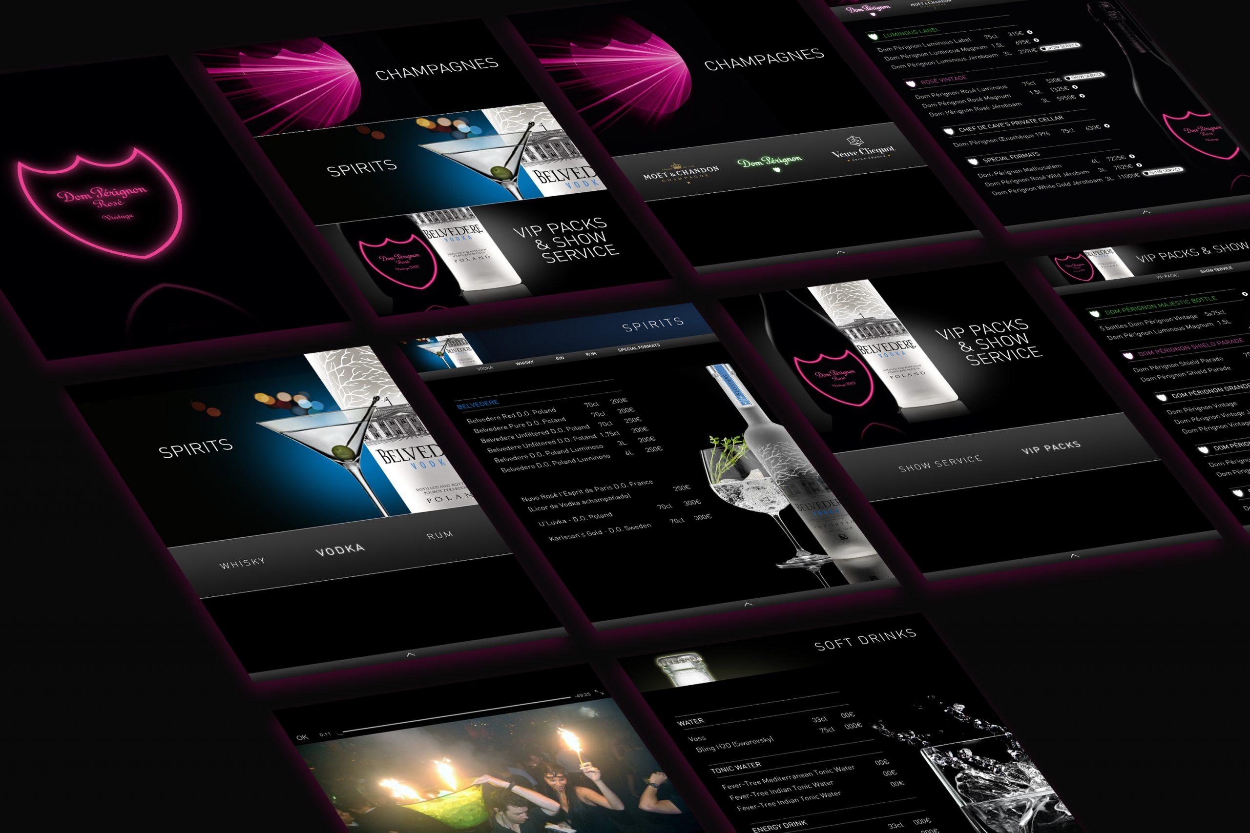 Dom Pérignon Digital Menu_UI